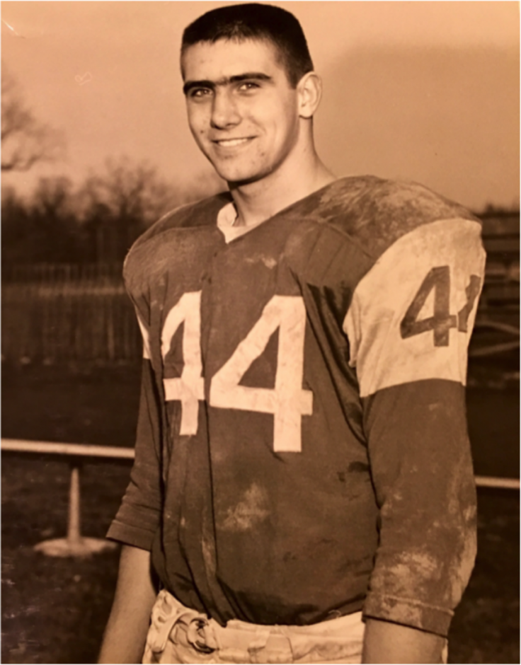 Tom Abele was a star fullback and linebacker for Niskayuna's 8-0 team in 1960.