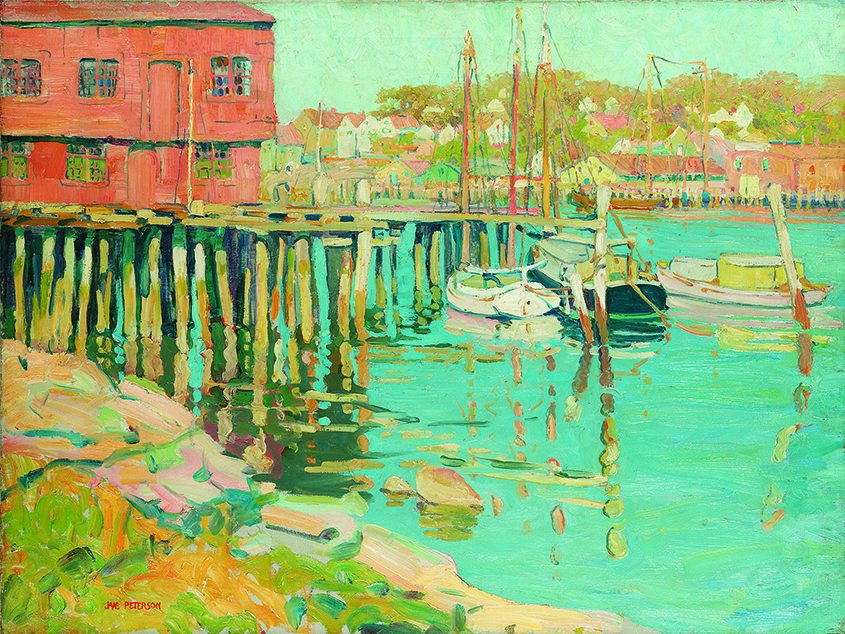 """""""Gloucester Fleet,"""" by Jane Peterson; collection of David and Weezie Reese"""