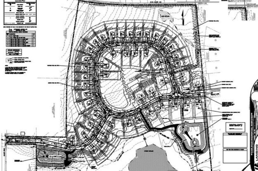 Part of the layout plan.