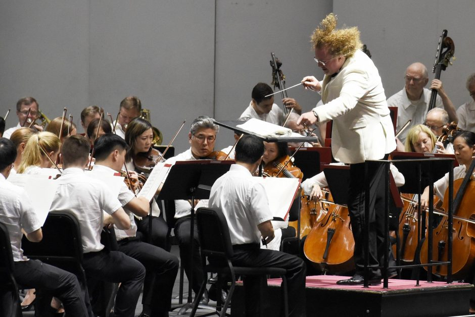 A scene from the Philadelphia Orchestra's opening night