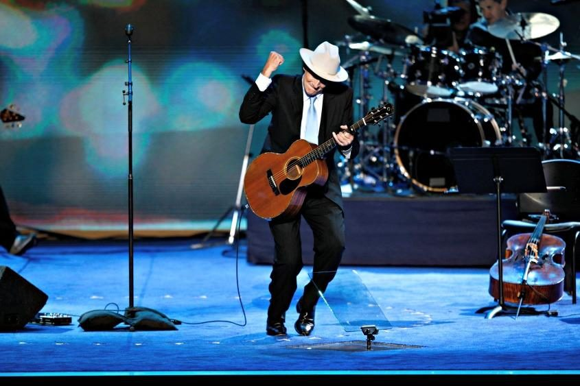 James Taylor performs during the Democratic National Convention in Charlotte, N.C., on Sept. 6, 2012