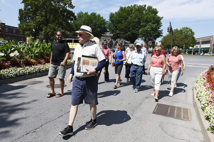 Walking tours set off at 10:30 a.m. from the Saratoga Heritage Area Visitor Center.