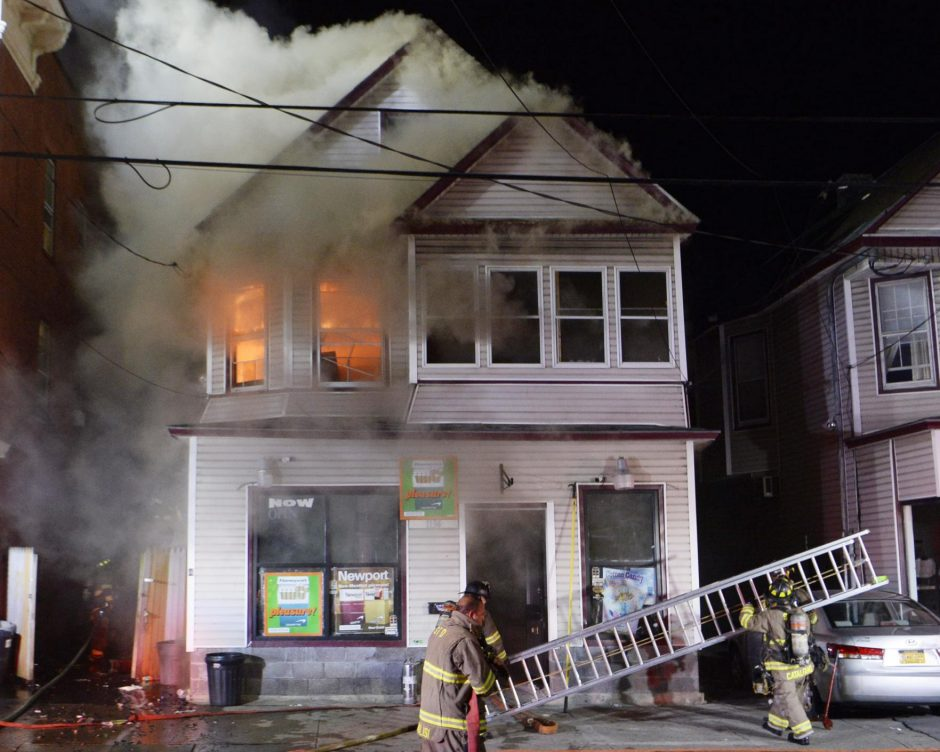 A 2 alarm fire at 1134 Albany Street.