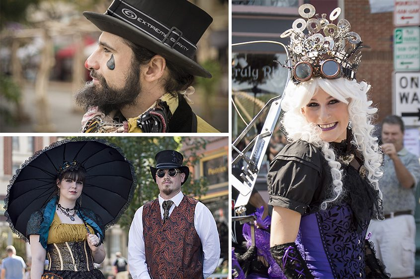 Images from the 2017 Steampunk Festival in downtown Troy.