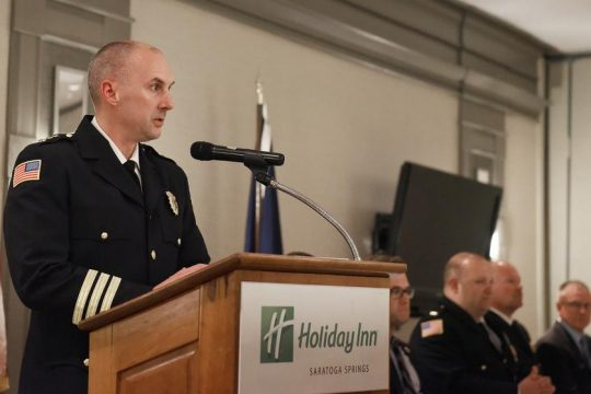 Police Chief Greg Veitch admitted he lied about an investigation.