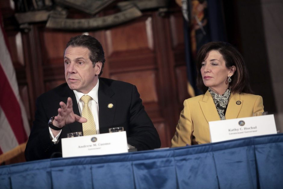 Gov. Andrew Cuomo and Lt. Gov. Kathy Hochul are among the top state officials who will defer their pay raises next year, but only after being pressured.