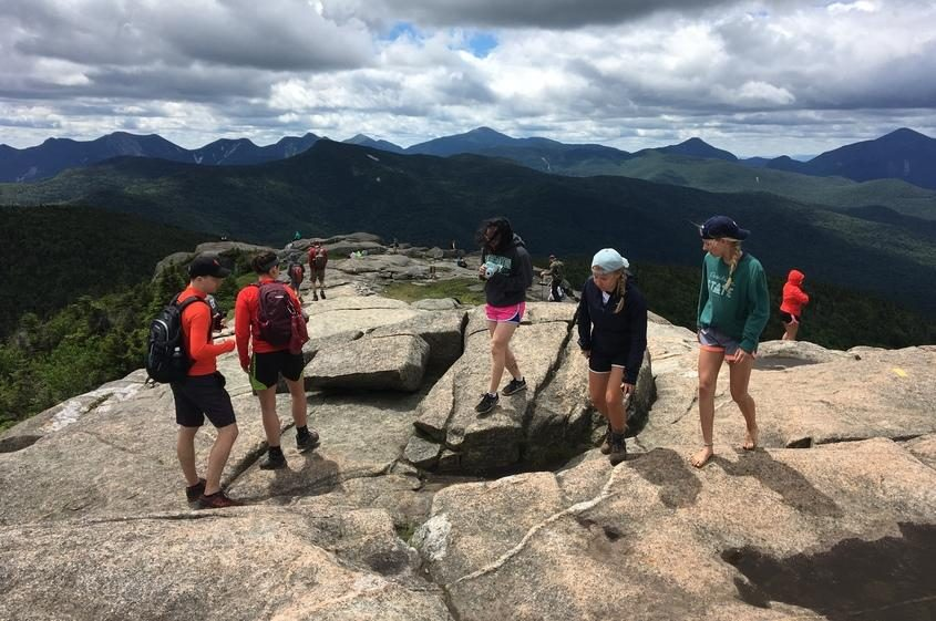 The summit of Cascade Mountain in the Adirondack High Peaks