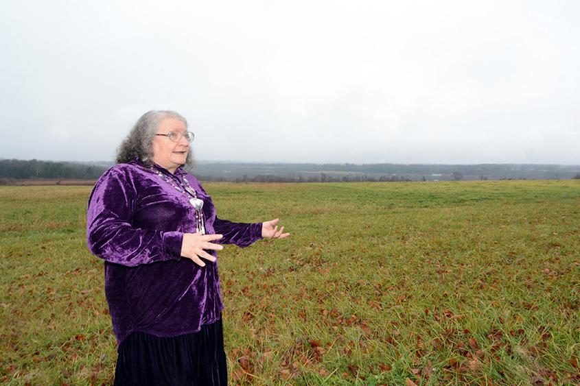 Marjorie Dancing Wind Heacock talks about the proposed Tribes Hill Heritage Center.