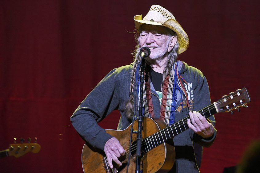 Willie Nelson closes the night in concert Sunday at the Outlaw Music Festival at SPAC