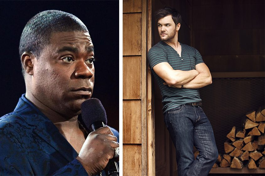 Comedian Tracy Morgan, left, and country music star Dylan Scott will be at Rivers Casino in early November.