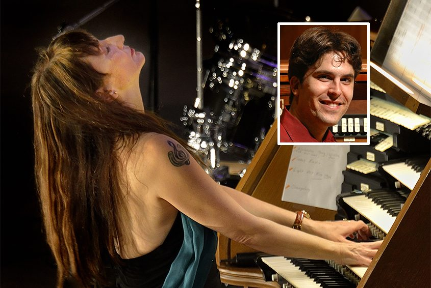 Organists Carol Williams and Raul Prieto Ramirez (inset)
