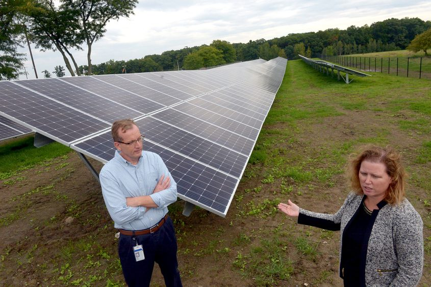 Johanna Wellington and Bill O'Rourke of General Electric Global Research talk about new technology being developed in Niskayuna.