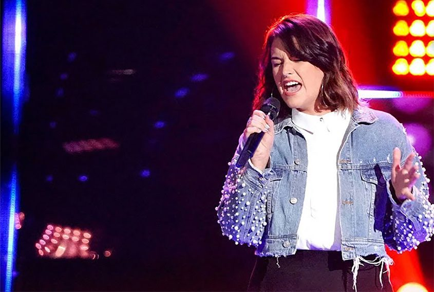 "Delaney Silvernell performs earlier this week on NBC's ""The Voice."""