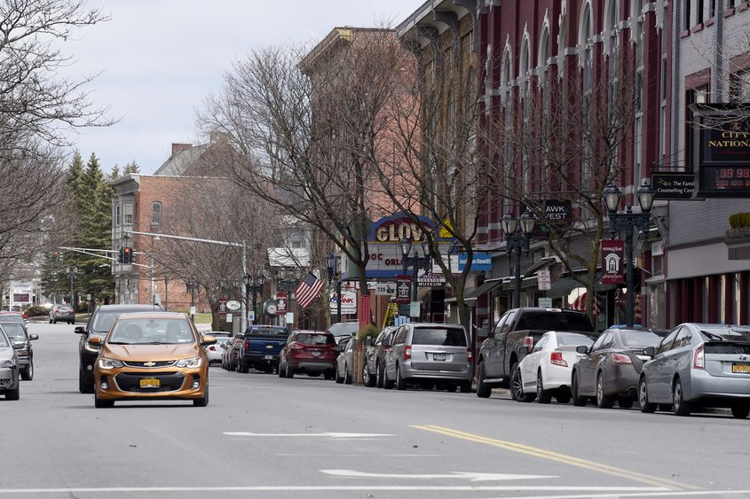 Downtown Gloversville is seen on Friday, April 20, 2018.