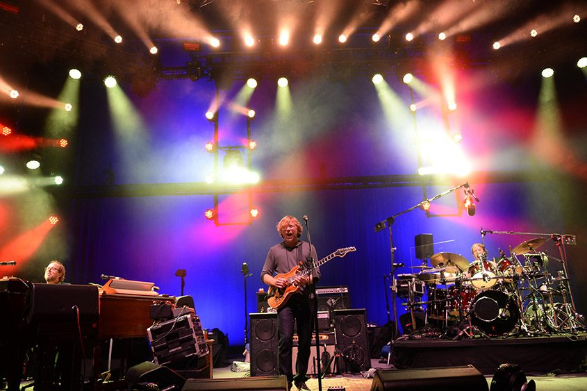 Phish, shown at a previous SPAC performance, is set for sold-out shows at the Times Union Center on Oct. 16 and 17.