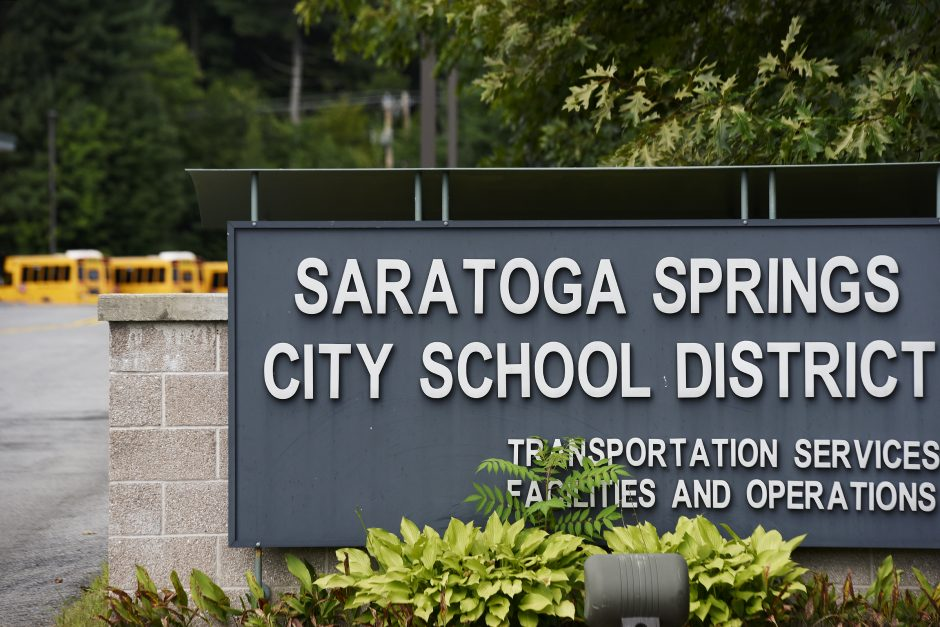The entrance to the Saratoga Springs transportation department is pictured.