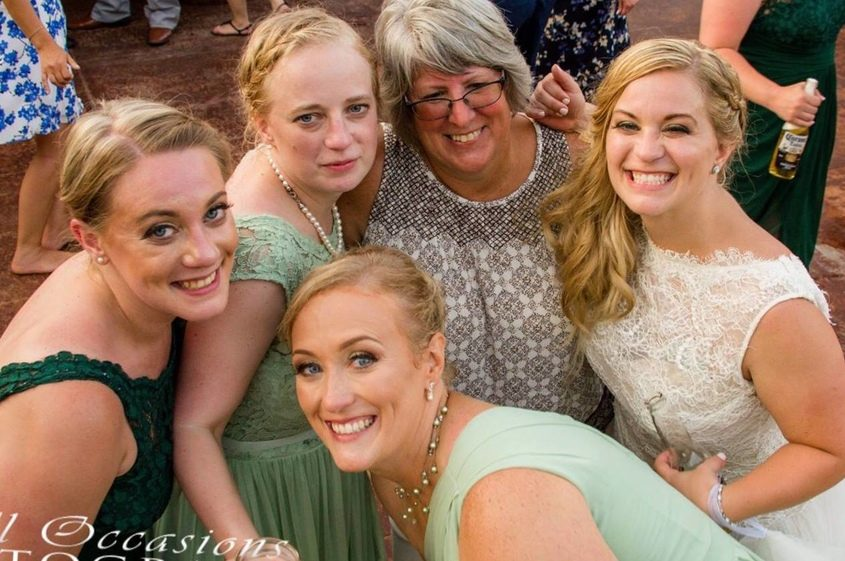 The Kings sisters, all killed in the limousine crash, are pictured with their mother.
