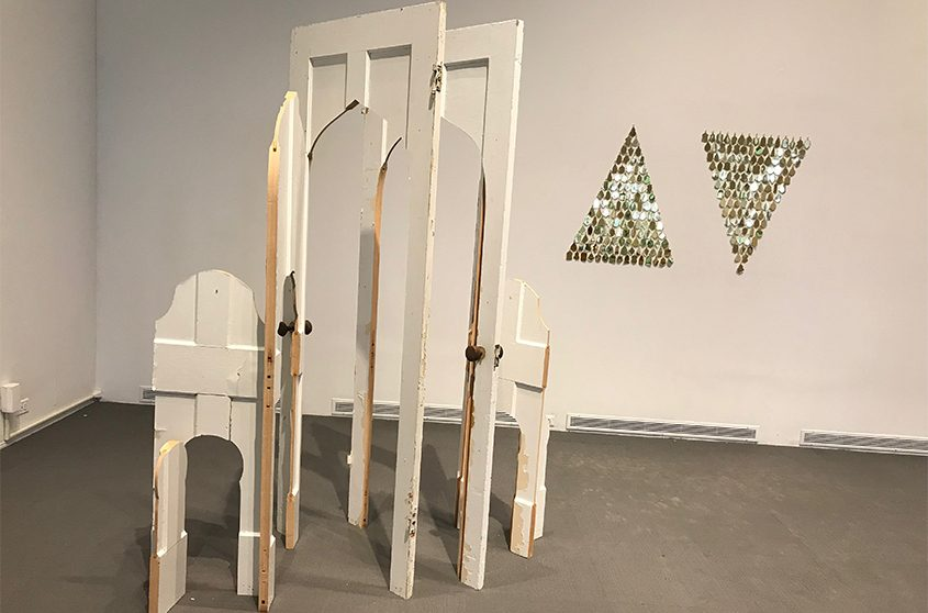 """""""Doorway"""" and """"Compass,"""" pieces by Amelia Toelke, are part of the """"Artists of the Mohawk Hudson Region"""" exhibit."""