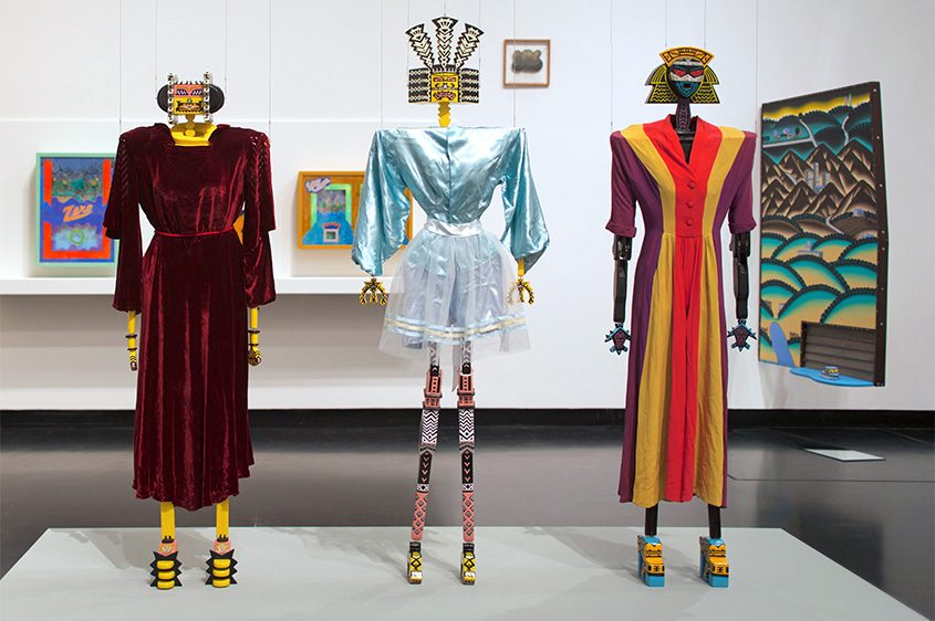 """Karl Wirsum's bionic figures are part of """"3-D Doings: The Imagist Object in Chicago Art, 1964-1980"""" at the Tang."""