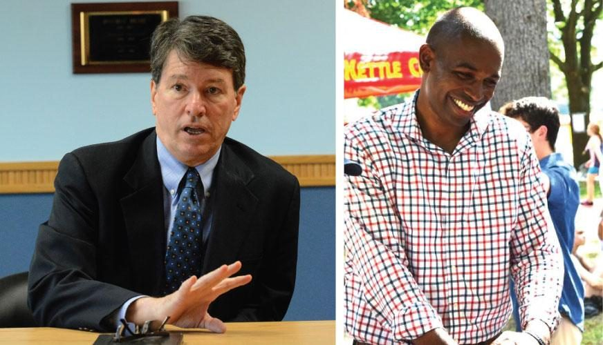 John Faso, left, and Antonio Delgado.