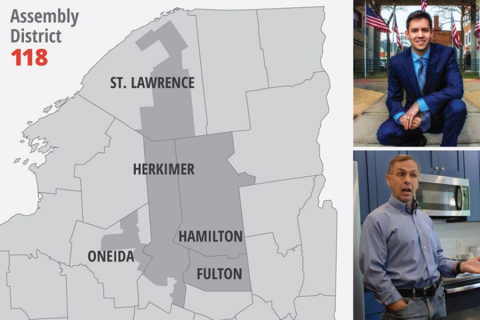 Keith Rubino (top) and Robert Smullen are vying for the 118th District seat.