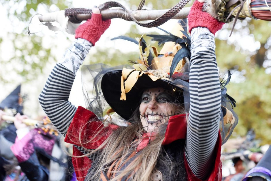 Annual Witch Dance at the start of the 14th annual Ballston Spa Witch Walk at Wiswall Park in Ballston Spa, on Friday.