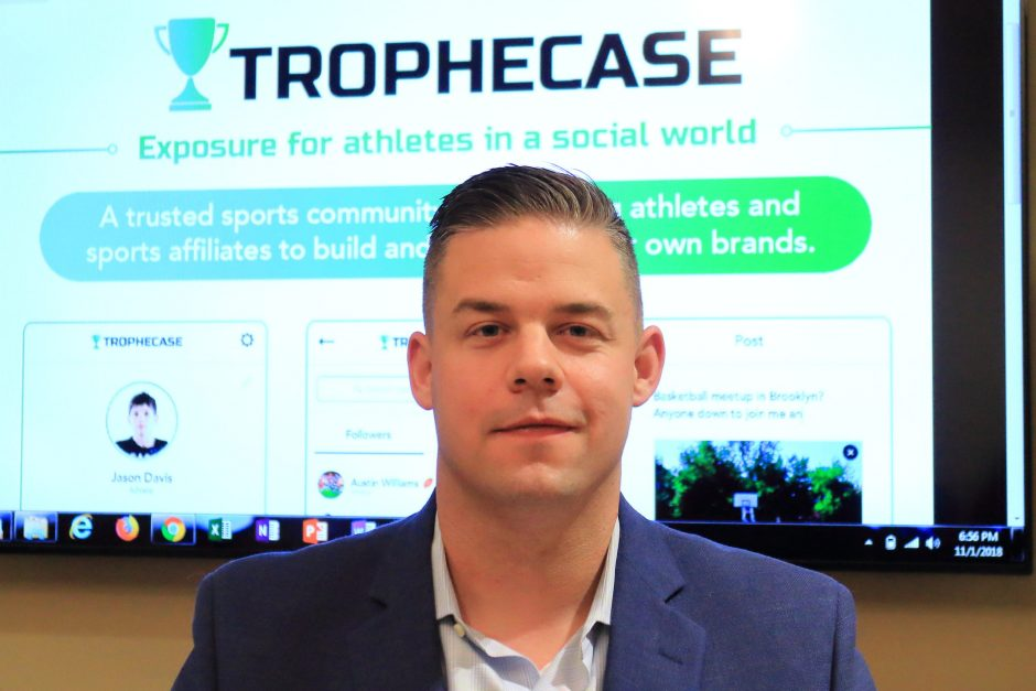 TropheCase founder and CEO Hunter Moffatt is pictured.