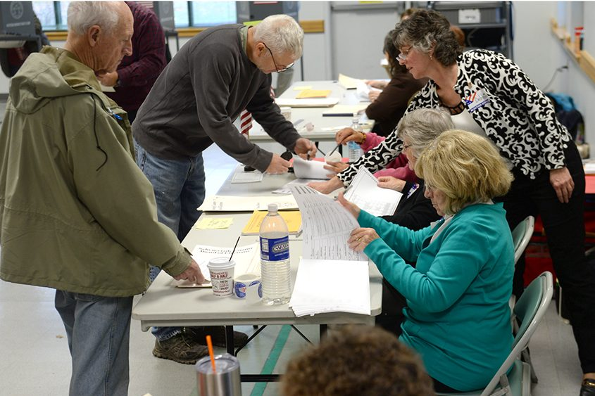 Voting takes place at the Glenville Senior Center on Election Day.