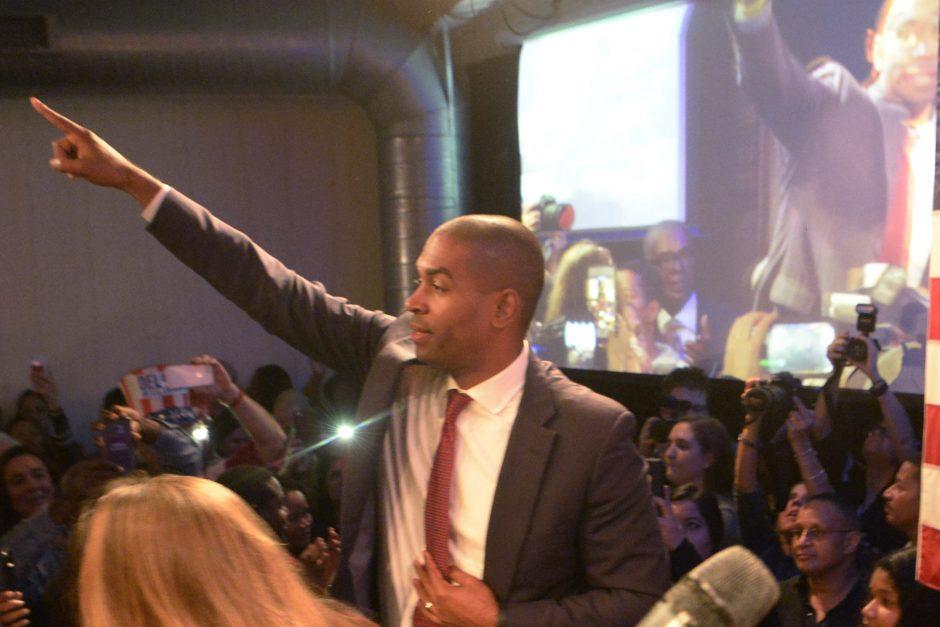 Congressman elect Antonio Delgado unseats incumbent John Faso in Kingston, NY Tuesday.