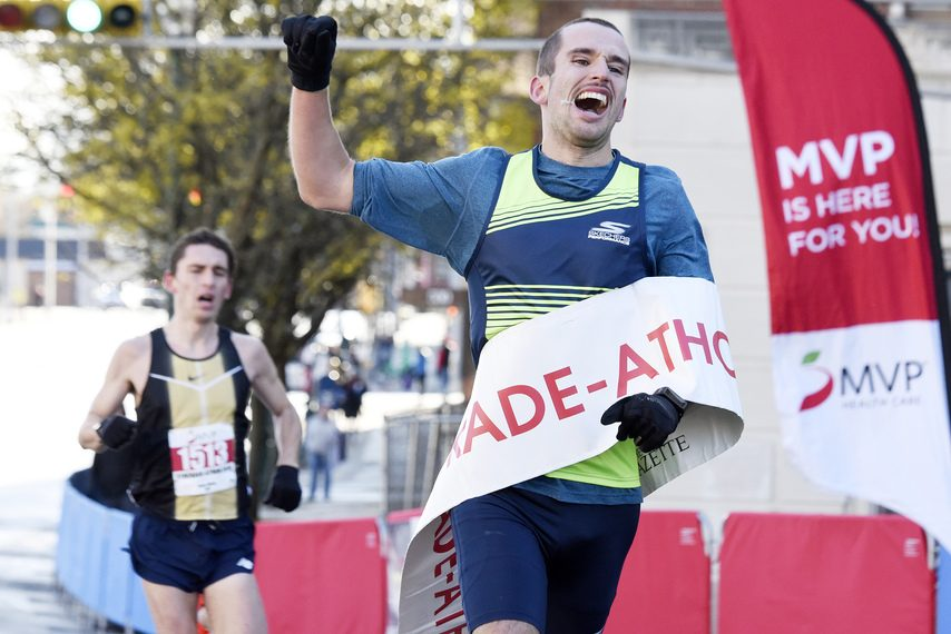 Francois Jarry wins the 43rd MVP Health Care Stockade-athon, with Ben Fazio in hot pursuit.