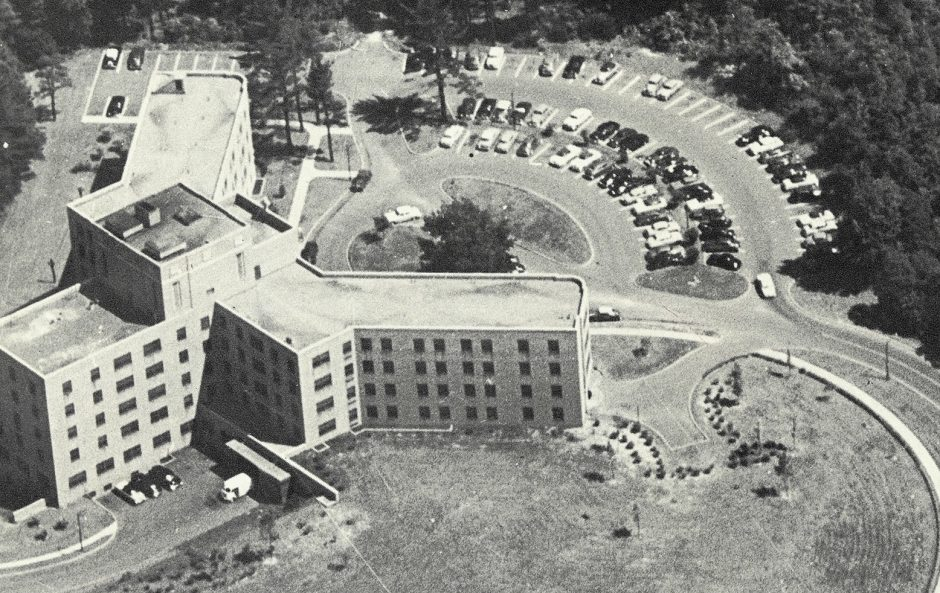 St. Clare's Hospital in Schenectady as it looked during the early 1950s.