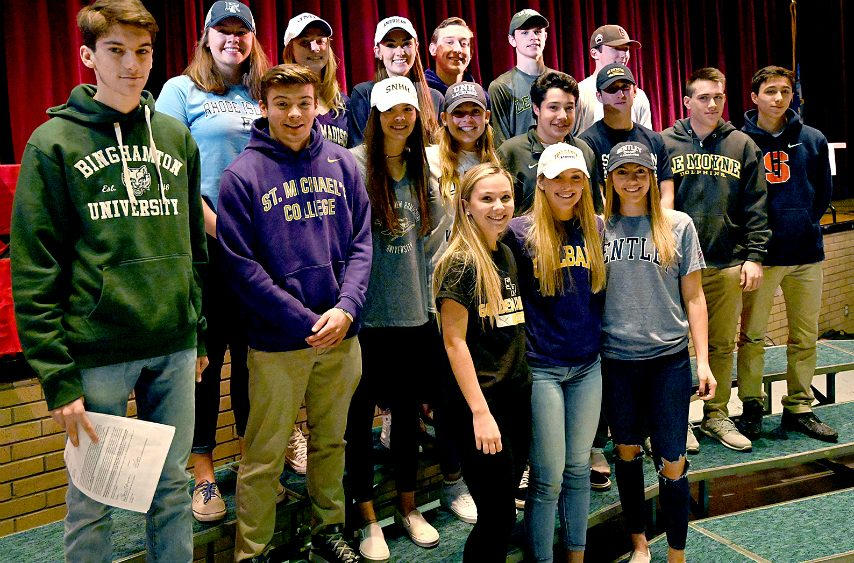 Niskayuna held its college signing day Wednesday for 17 seniors including 12 lacrosse players.