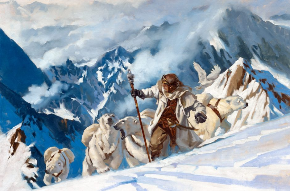 """The cover illustration for """"Above The Timberline"""" by Gregory Manchess."""