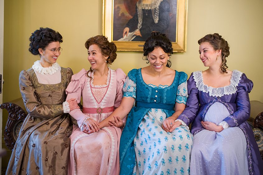From left, Connie Castanzo, Marielle Young, Kelsie Rainwater and Caroline Whelehan in the Cap Rep production.