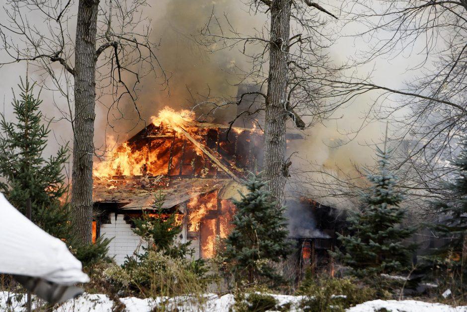The fire at 75 Old Saratoga Lake Road Sunday
