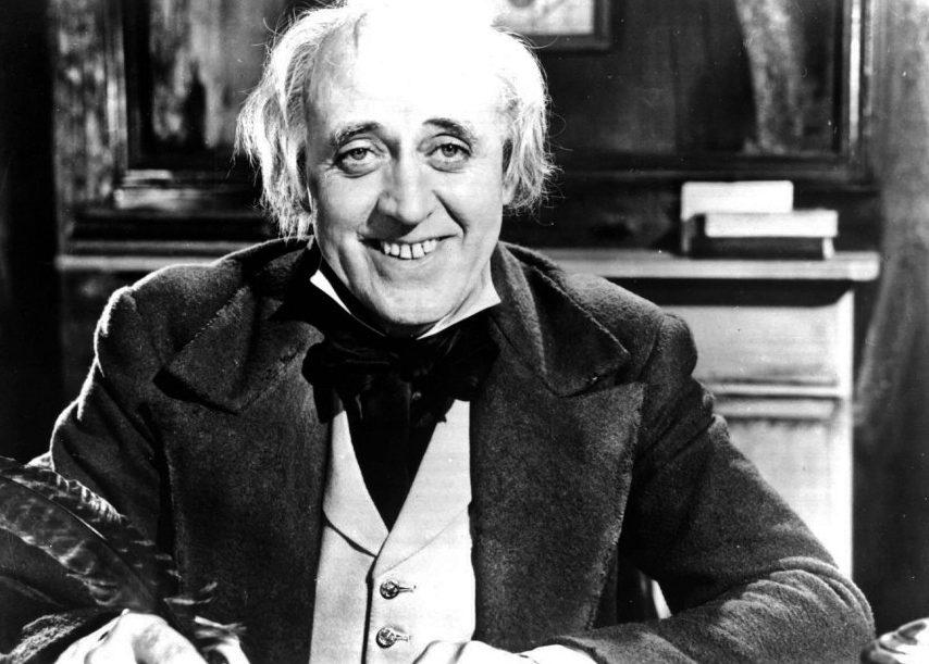 Alastair Sim as Ebenezer Scrooge in Scrooge (1951) aka A Christmas Carol, directed by Brian Desmond H.