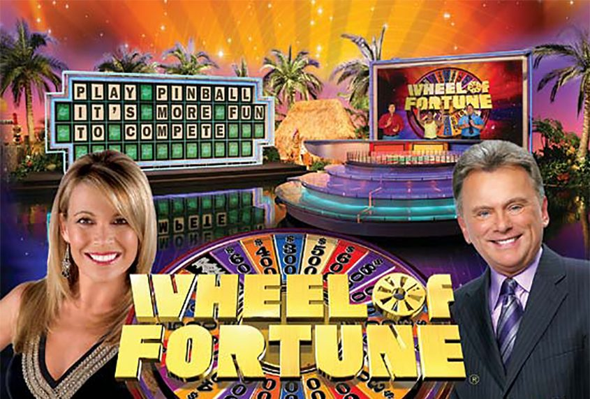 "Vanna White and Pat Sajak host ""Wheel of Fortune."""