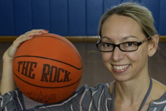 Jessica Brennan who started the Nisky NOW program gets ready for this weekend's fundraiser.
