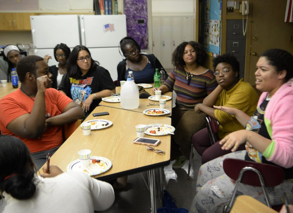 The Schenectady High School Roots Club meets in September.