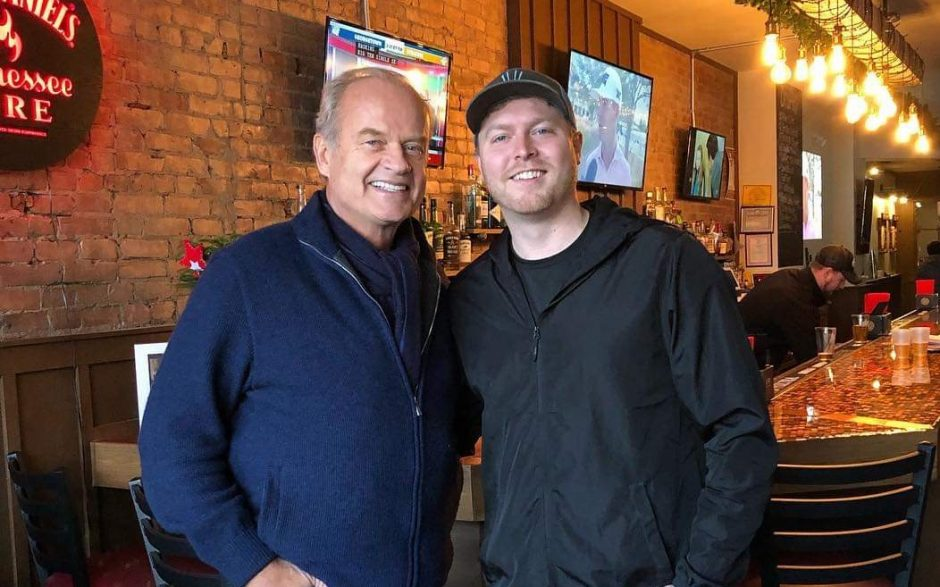 Kelsey Grammer, left, with Jay St. Pub owner Mitchell Ramsey Saturday at the pub