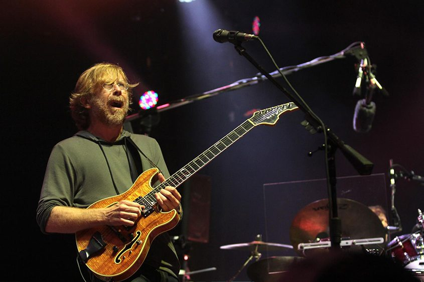 Trey Anastasio performs with Phish at SPAC in 2014.