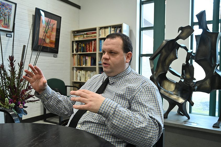 Andrew Katz, Schenectady Jewish Community Center interim executive director  talks about his Dec. 10 visit to Pittsburgh.