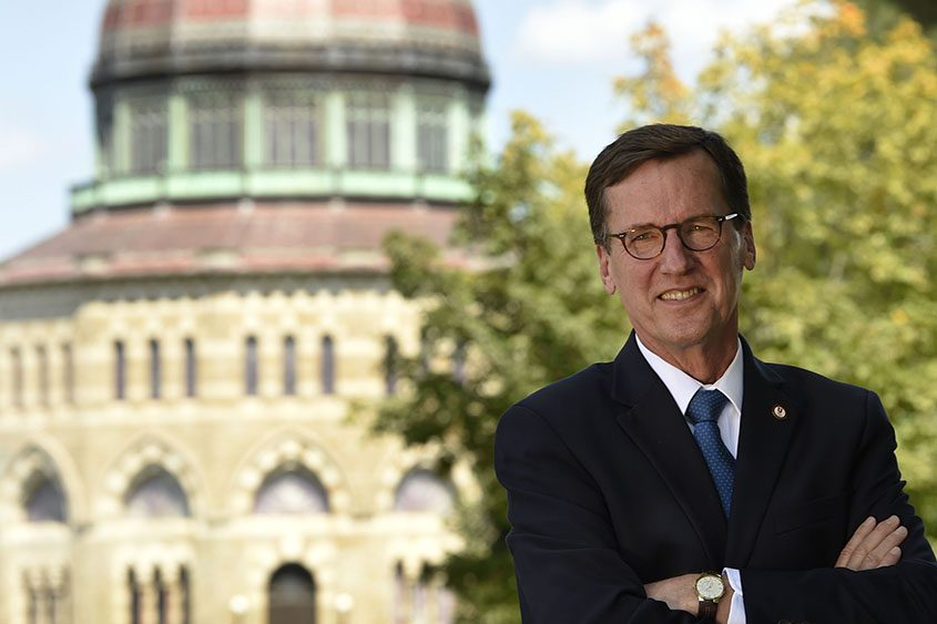 Stephen Ainlay retired as Union College president this year after a 12-year run.