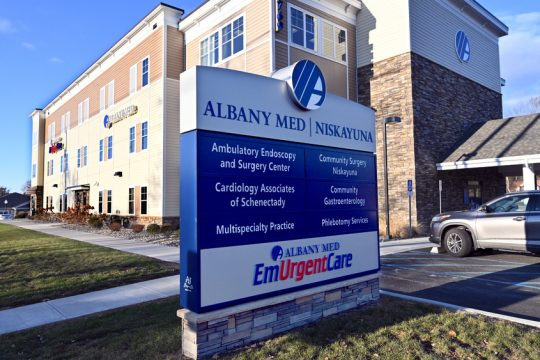 Albany Medical Center's EmUrgentCare building at 1769 Union St. in Niskayuna is shown Dec. 10, 2018.