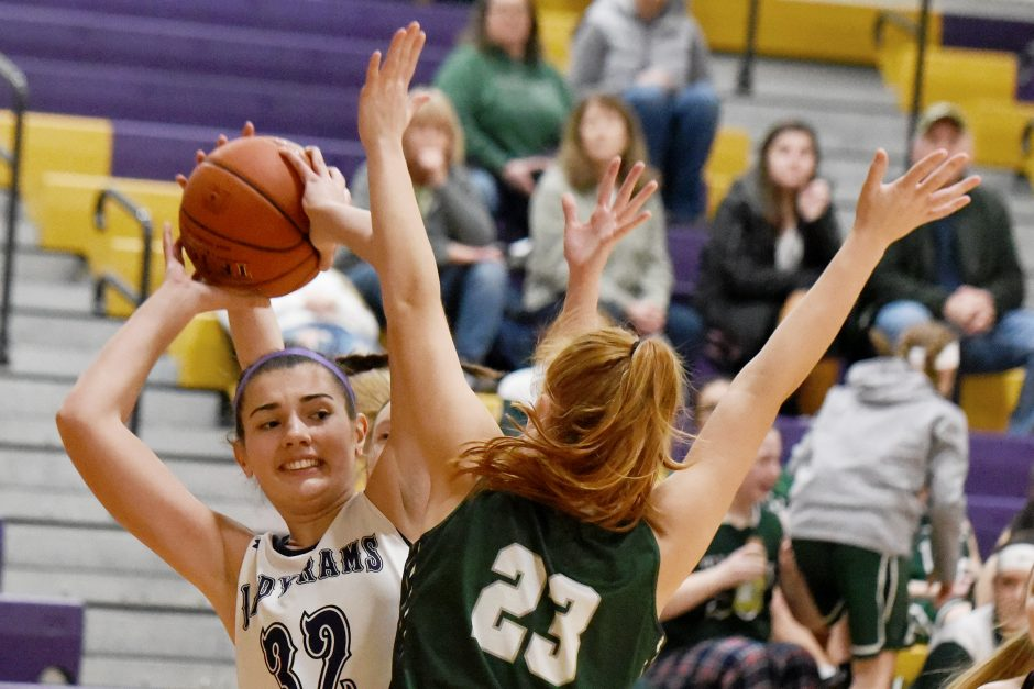 Elena Fedullo was among six players who scored for Amsterdam's unbeaten basketball team in a 24-0 run against Hudson Falls.