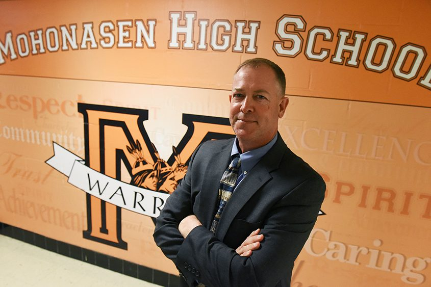 New Superintendent Shannon Shine after the Mohonasen Board of Education meeting on Sept. 10, 2018.