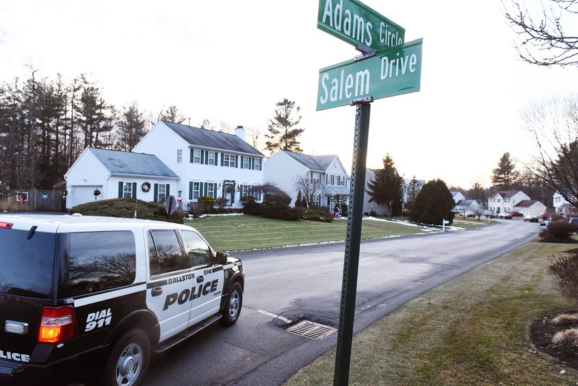 State police, Saratoga County sheriff's deputies and Ballston Spa police  were investigating on Adams Circle on Friday.
