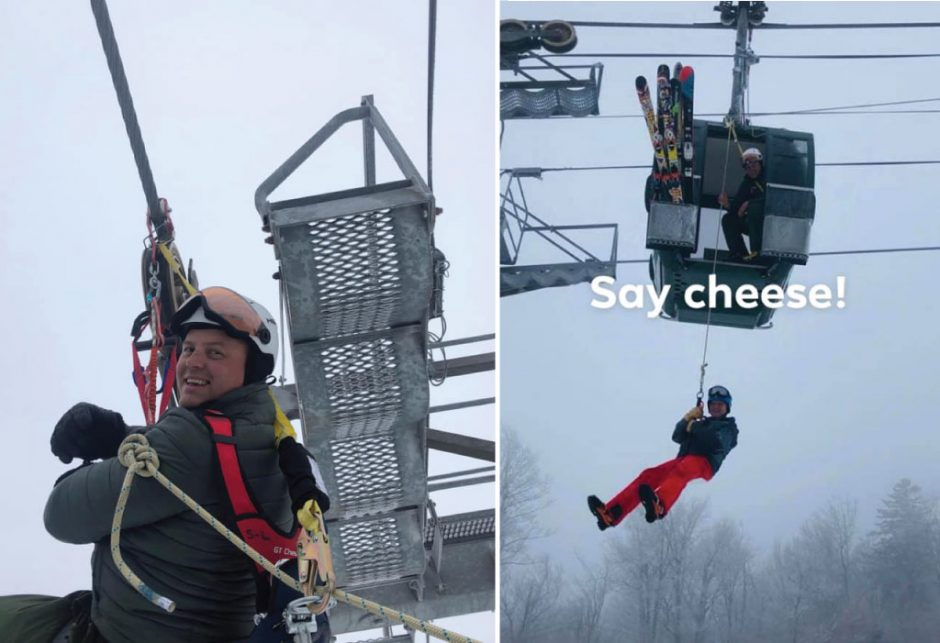 Rescuers used ropes to evacuate seven individuals from the Northwoods Gondola, according to Gore Mountain officials.