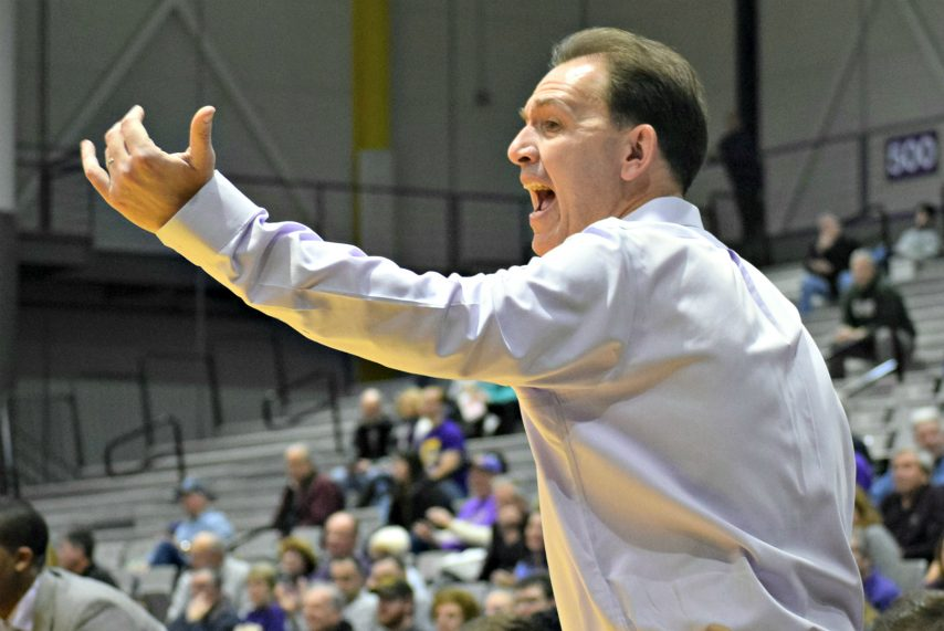 UAlbany head coach Will Brown is shown during Saturday's loss.