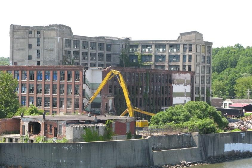 The Chalmers building was torn down over several months, starting in 2011 and finishing in 2012